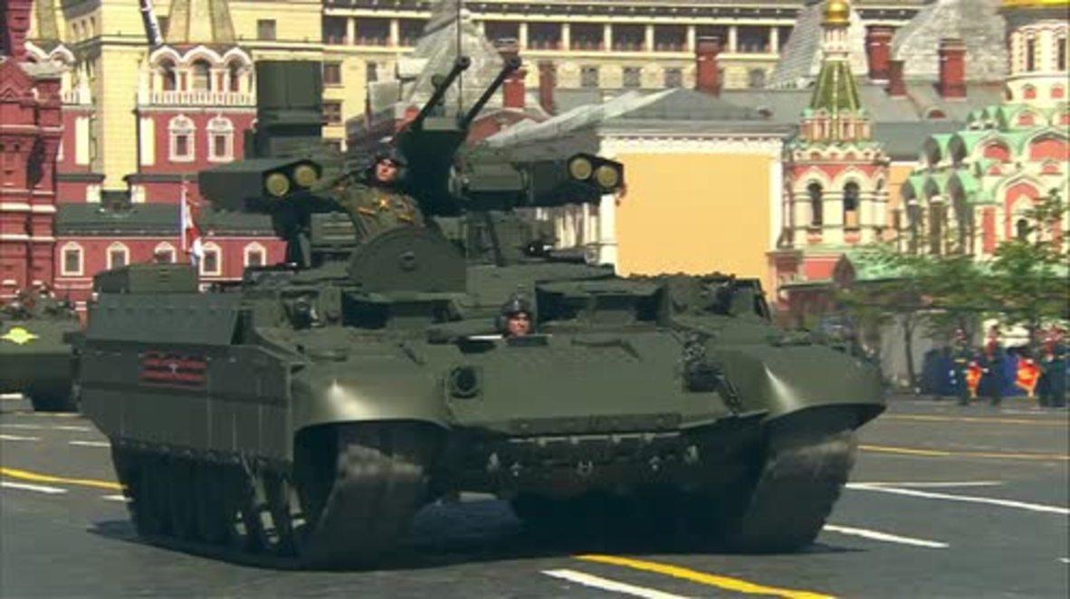 Rusia: Vehículos militares BMPT Terminator o el Urán-6 entre las novedades militares del Desfile de la Victoria