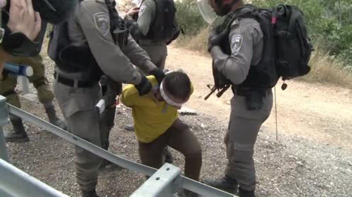 Estado de Palestina: Aumenta la tensión en Belén durante una marcha palestino-israelí