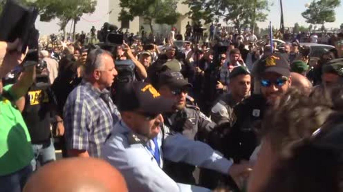 Israel: Varios detenidos durante enfrentamientos entre la policía y manifestantes pro palestinos