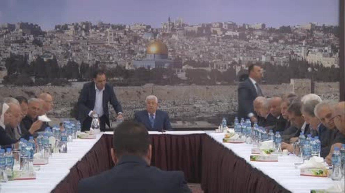 """Estado de Palestina: Abbás critica el traslado de la embajada de EE.UU. a Jerusalén y la califica de """"puesto avanzado"""