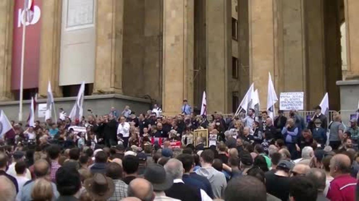 """Georgia: Miles de nacionalistas se unen a la """"Marcha de los georgianos"""" en Tiflis"""