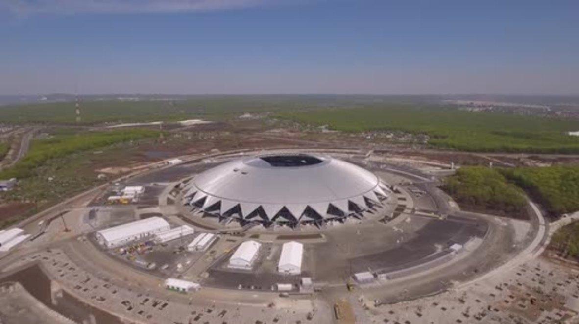 Russia: Bird's eye view of Samara Arena ahead of WC 2018