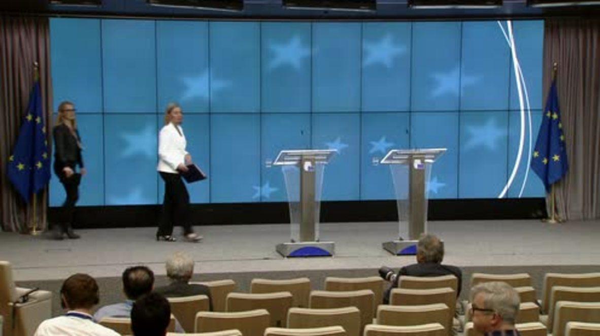 Belgium: EU, Tehran 'determined' to salvage nuclear deal - Mogherini