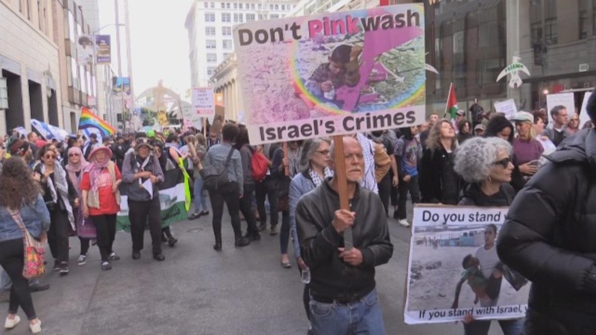 USA: Protesters slam Israeli violence outside San Francisco Consulate