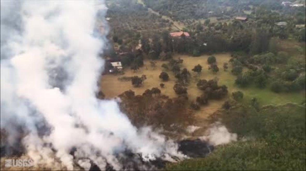 EE.UU.: Grietas expulsan lava y gases tóxicos tras la erupción del volcán Kilauea