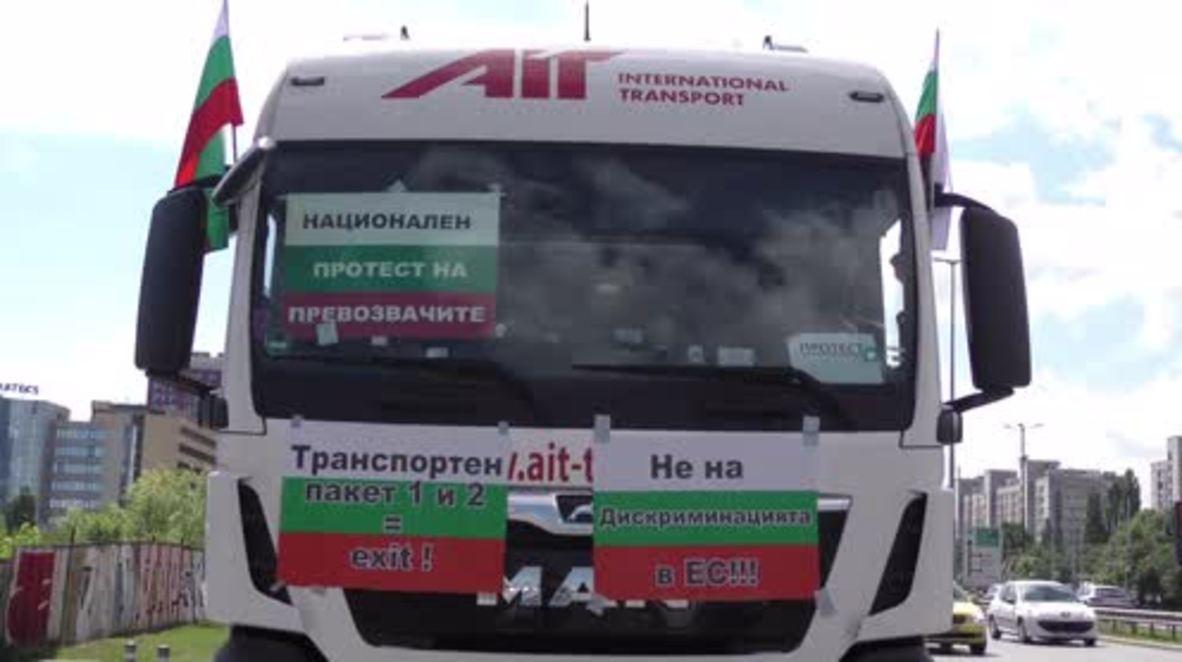 Bulgaria: Camioneros protestan contra las nuevas reglas del 'programa de movilidad'