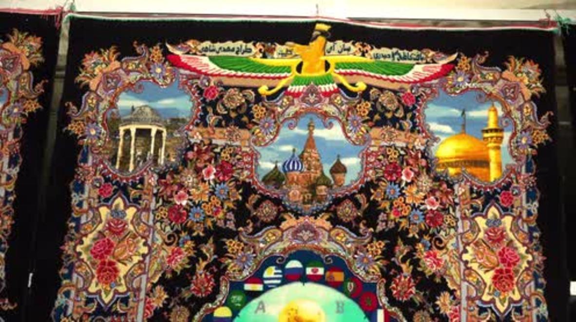 Irán: Presentan en Teherán unas impresionantes alfombras persas dedicadas al Mundial *EXCLUSIVO*