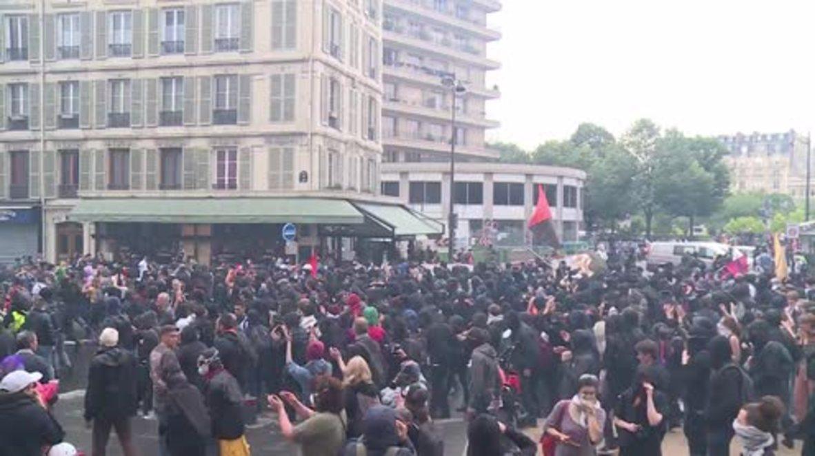 France: 17 arrested as thousands join Paris civil servant march
