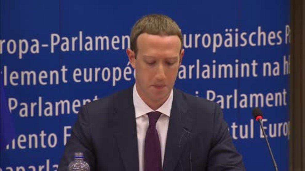 """Bélgica: Zuckerberg se disculpa por los """"errores"""" de Facebook en la UE"""
