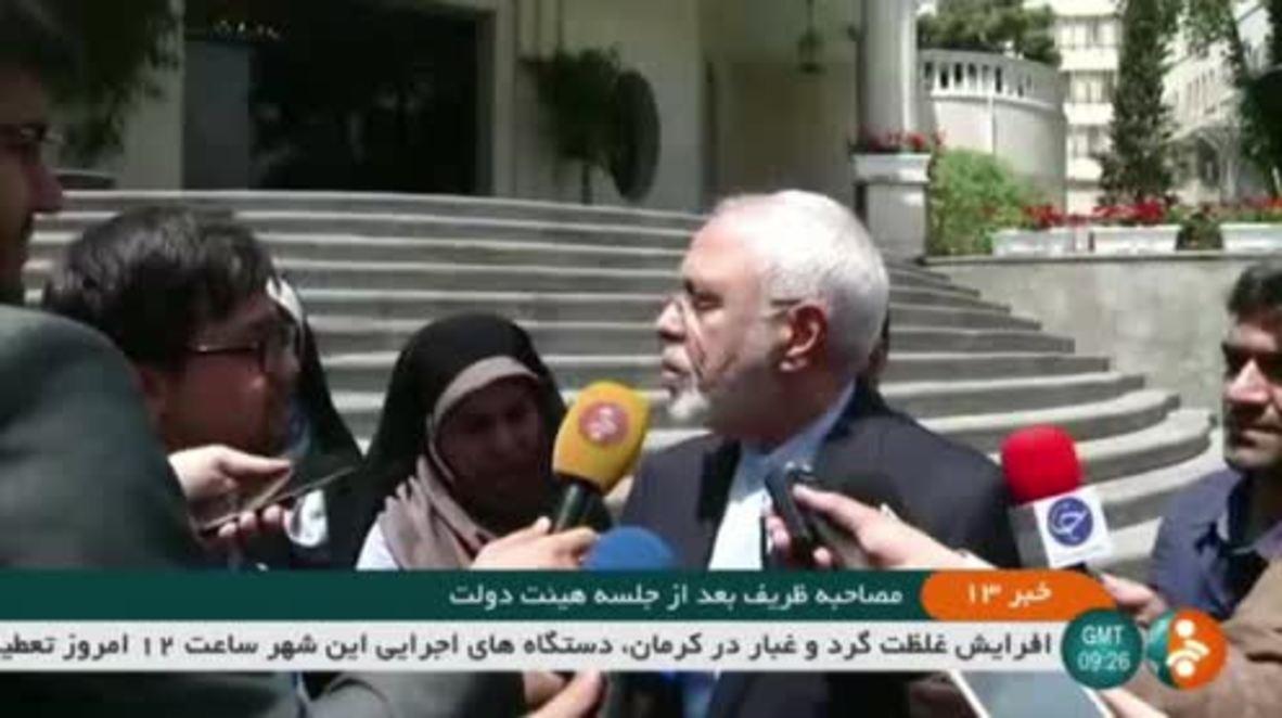 """Irán: Zarif dice que las exigencias de Pompeo son """"alucinaciones"""