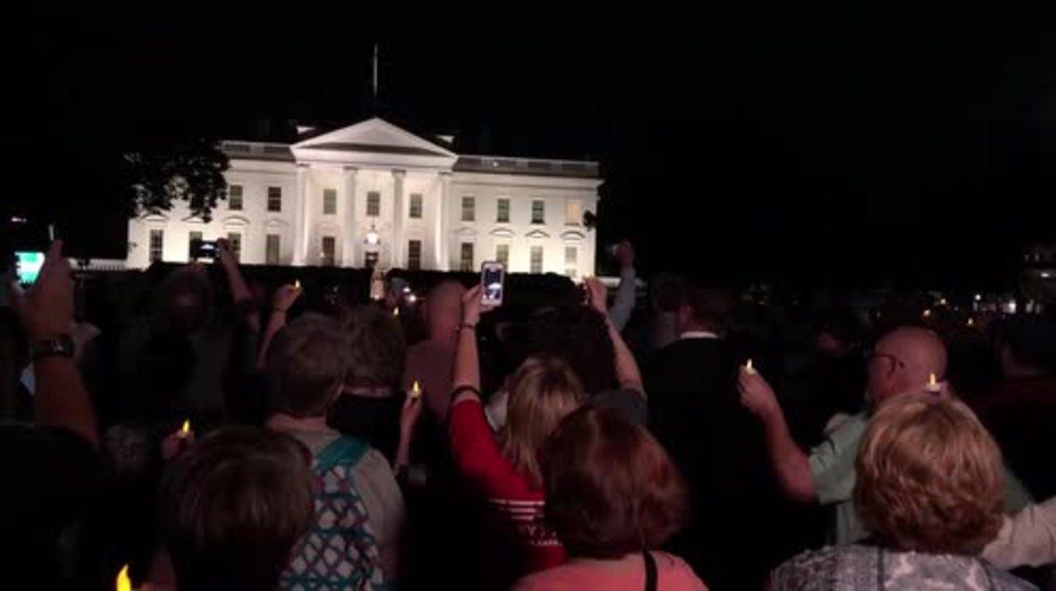 EE. UU.: El obispo negro de la boda real lidera una protesta en la Casa Blanca