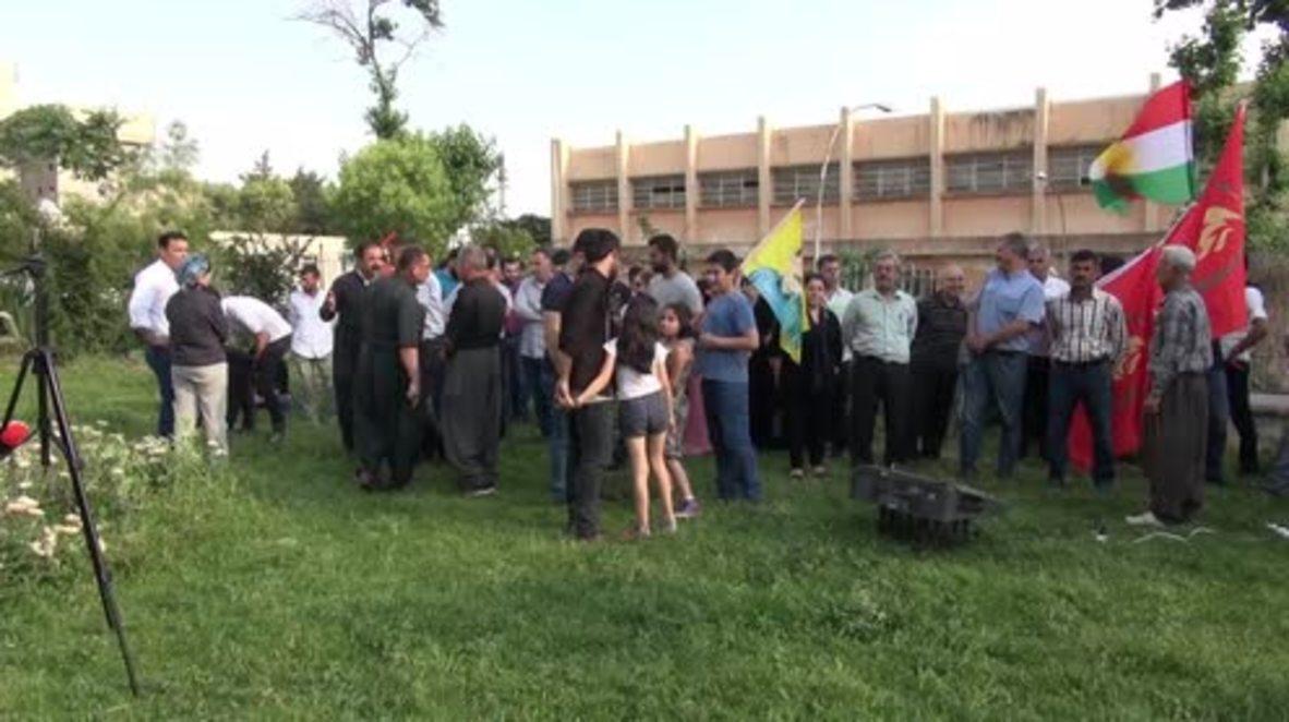 Iraq: Dozens protest Turkish ops in Iraqi Kurdistan