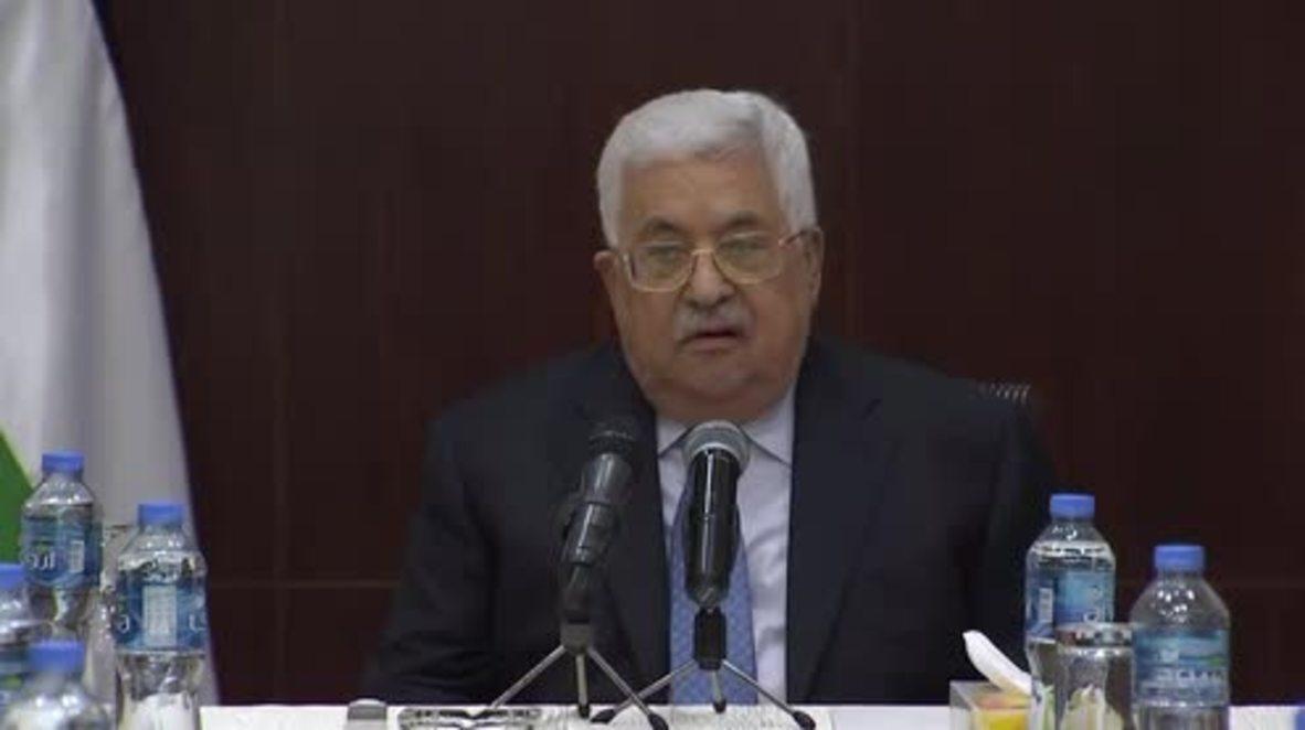 """Estado de Palestina: """"La ocupación no quiere la paz"""" - Dice Abbas sobre ataques aéreos israelíes"""