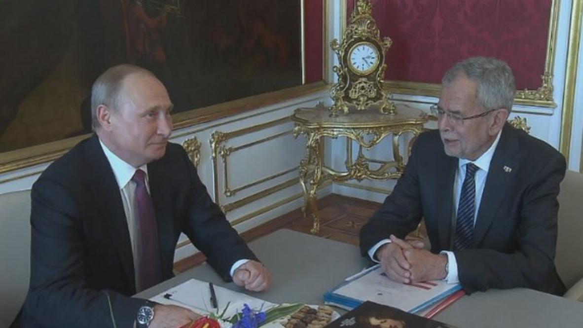 Austria: Putin llega a Viena en visita oficial