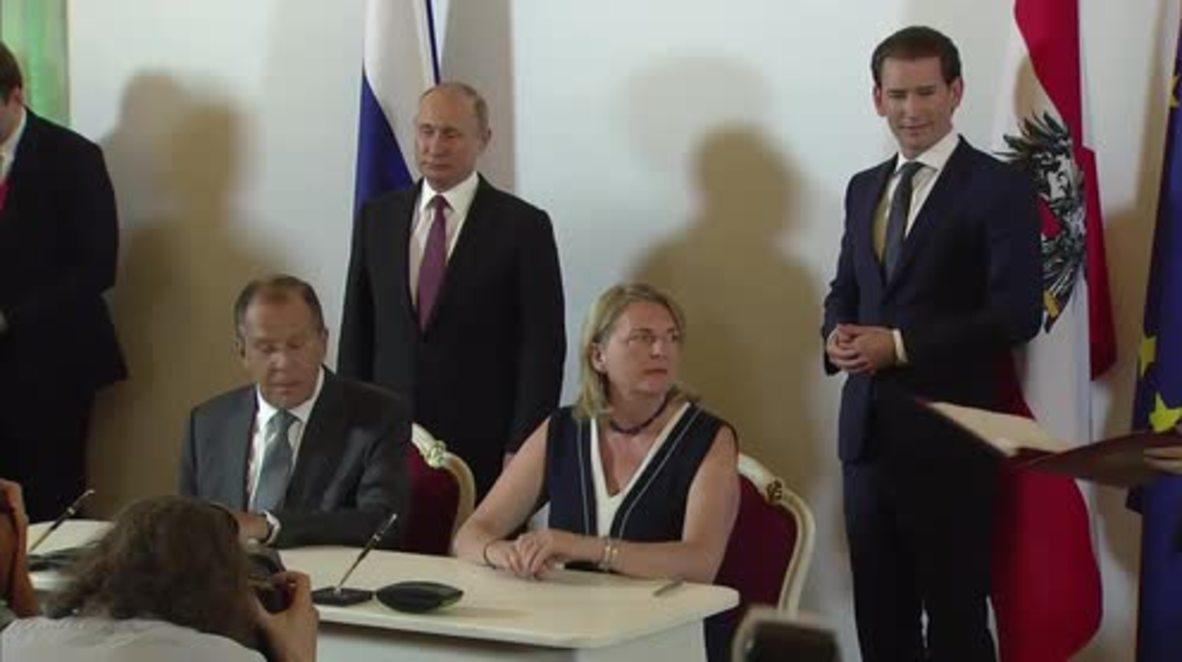 Austria: Russia's Gazprom, Austria's OMV sign gas supplies agreement until 2040