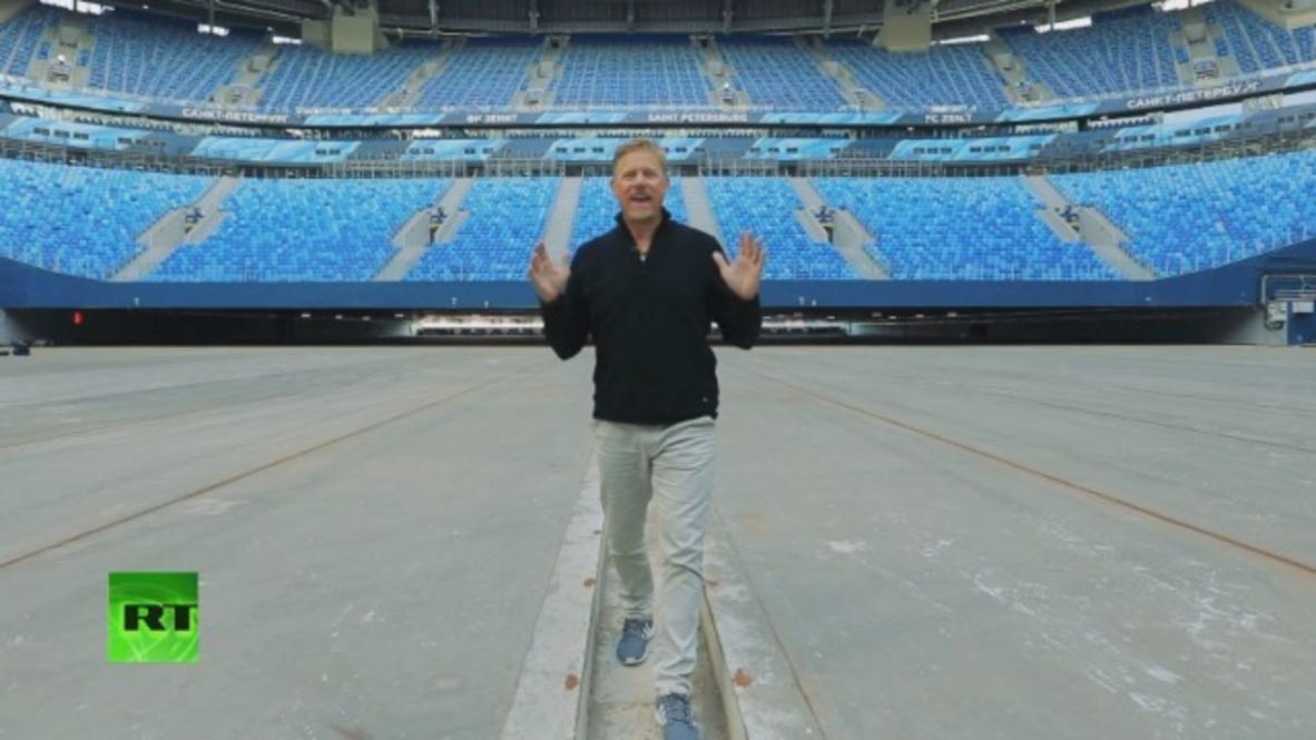 Peter Schmeichel Show arrives in St. Petersburg *EXCLUSIVE* *PARTNER CONTENT*