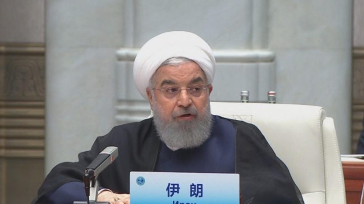 China: Rouhani calls for response to 'destructive' US JCPOA withdrawal