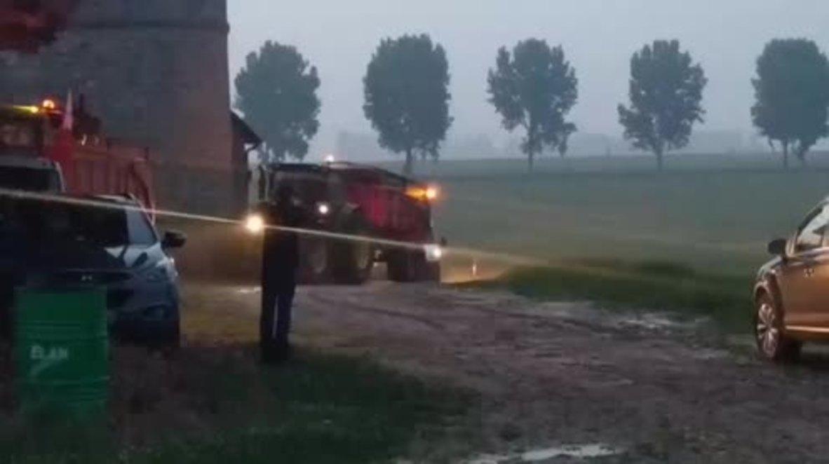 France: Farmers launch blockade of oil refinery in Grandpuits
