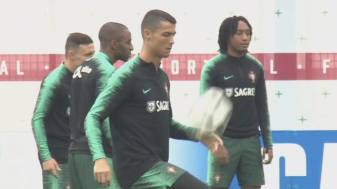 """Rusia: Portugal llega a Rusia """"para ganar"""" - Ronaldo y sus compañeros entrenan en Kratovo"""