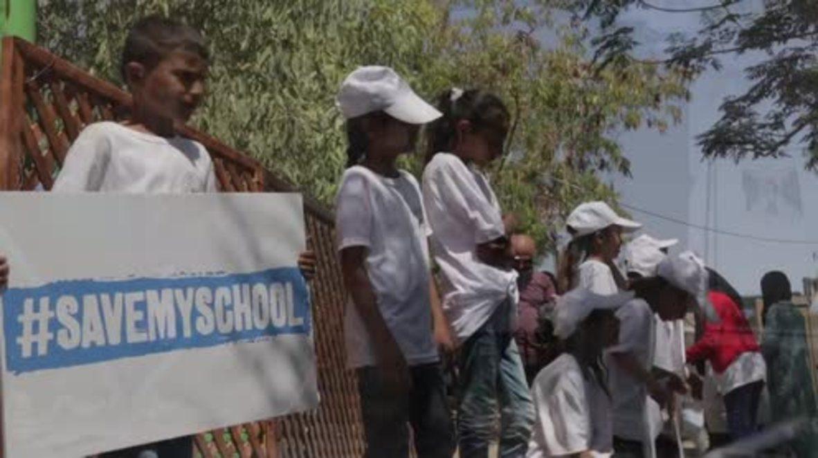 State of Palestine: Children battle to save school from Israeli demolition
