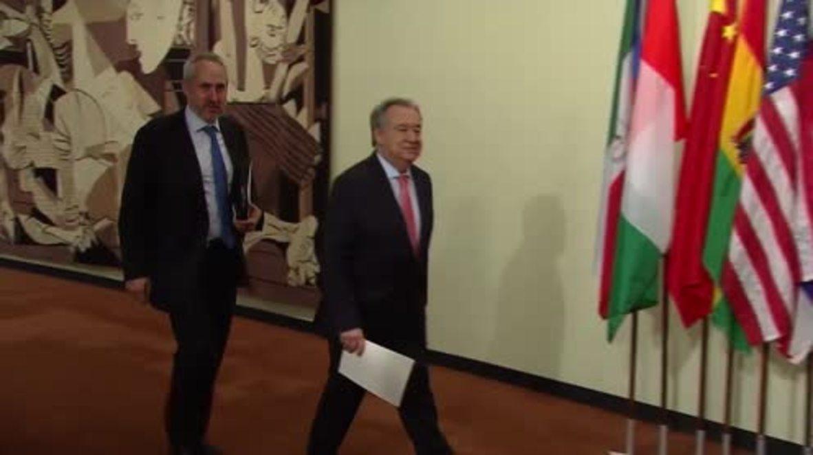 UN: Sec Gen Guterres commends N. Korea - US leaders' summit
