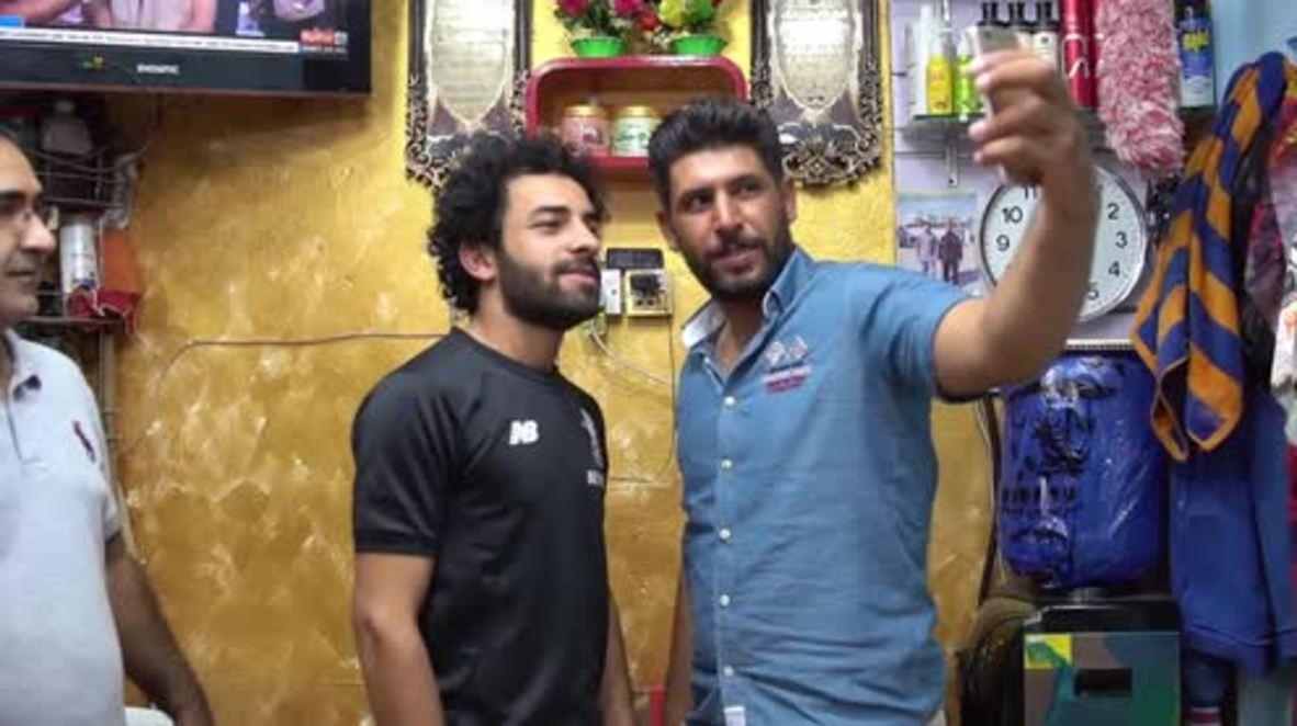 Iraq: Mo Salah doppelganger shoots for the footballing stars