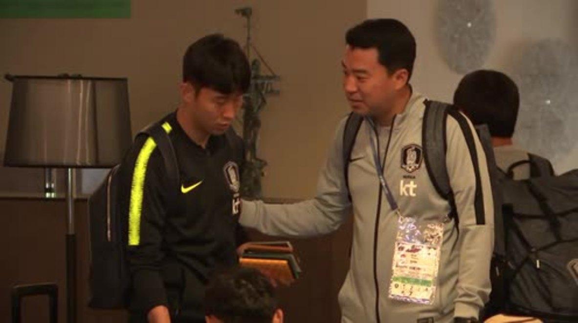 Rusia: Son Heung-min y el resto de la selección surcoreana llegan a San Petersburgo antes del Mundial