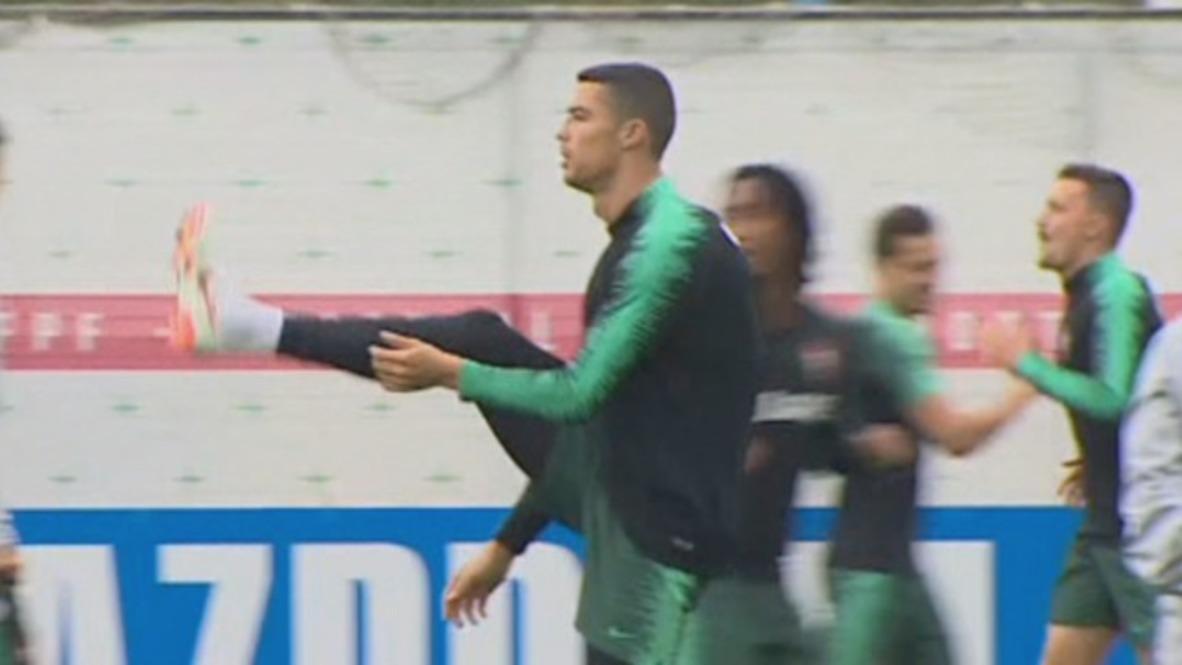 Rusia: La selección portuguesa entrena en Moscú antes del partido contra España