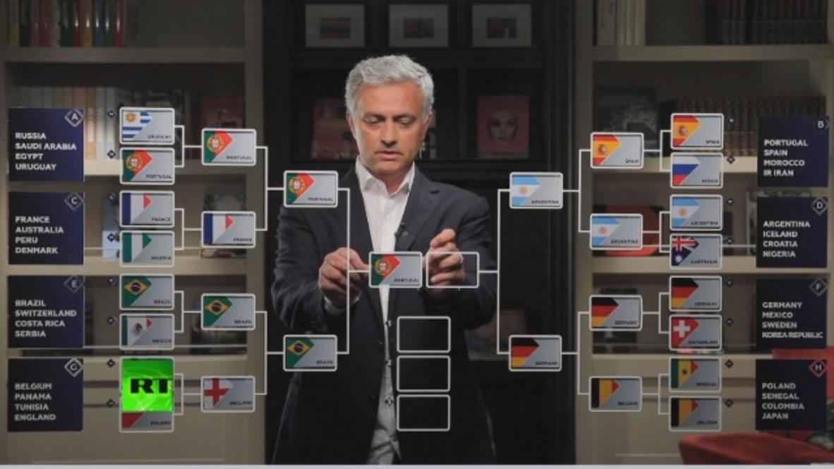 Argentina or Portugal? - Jose Mourinho predicts WC2018 finals