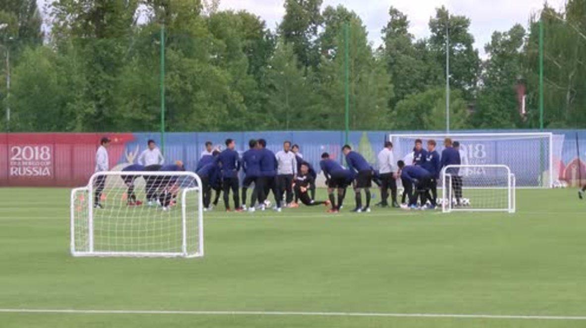 Rusia: El equipo nacional de Japón entrena en Kazán