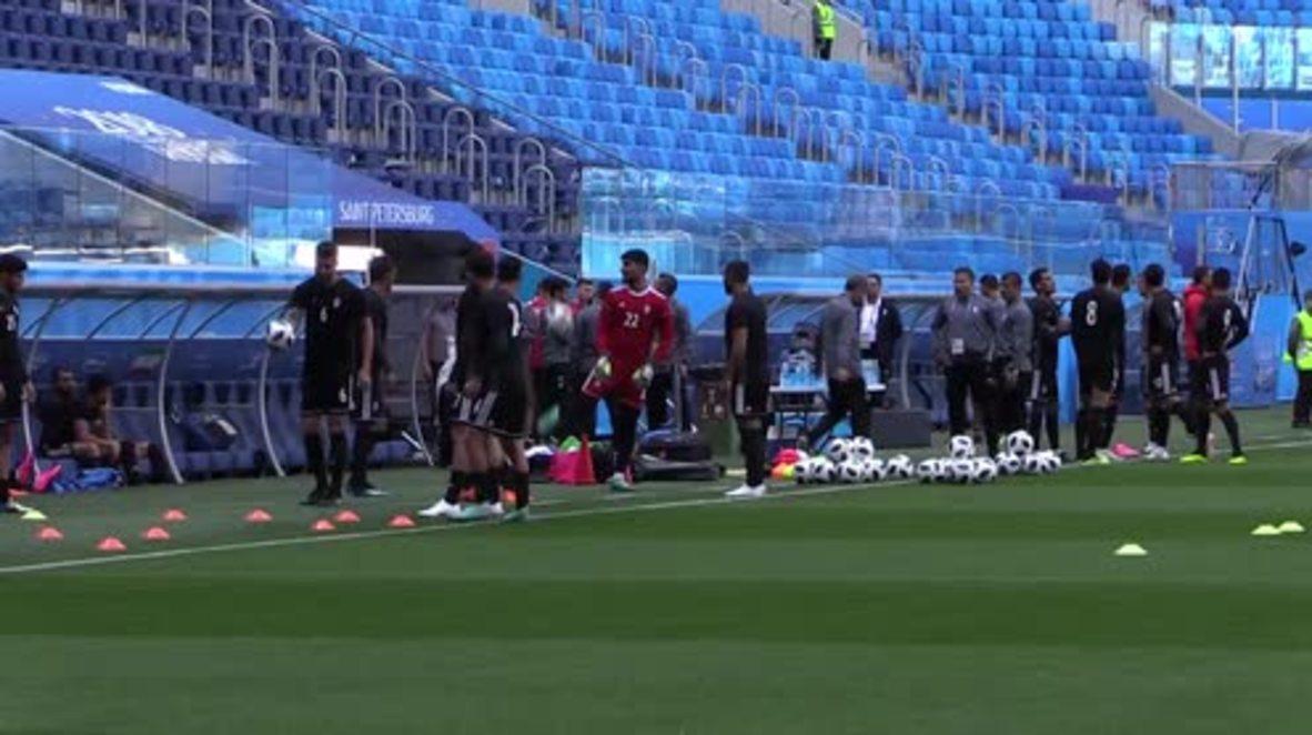 Rusia: El equipo de Irán entrena para su partido contra Marruecos