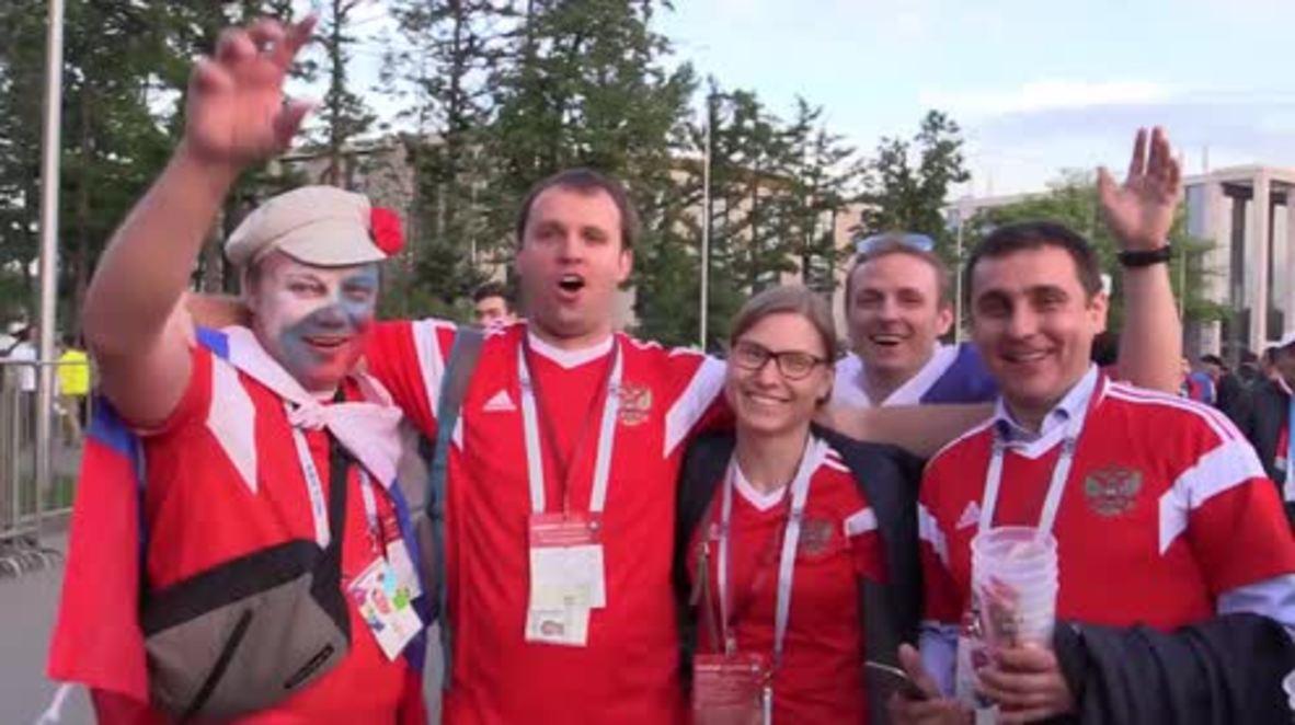 Russia: Russian fans ecstatic after convincing win over Saudi Arabia