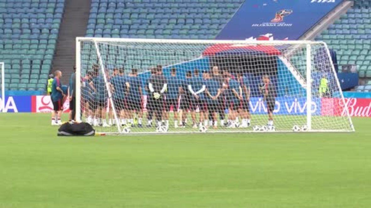 Rusia: El nuevo seleccionador español lidera el último entrenamiento de La Roja antes de medirse con Portugal