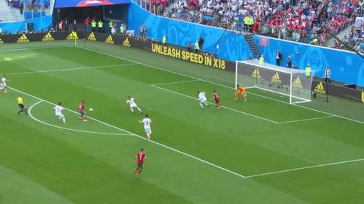 Rusia: Irán se lleva la victoria contra Marruecos tras auto gol en el minuto 95