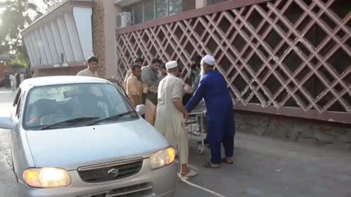 Afghanistan: Injured rushed to hospital in Nangarhar after Eid blast kills 20