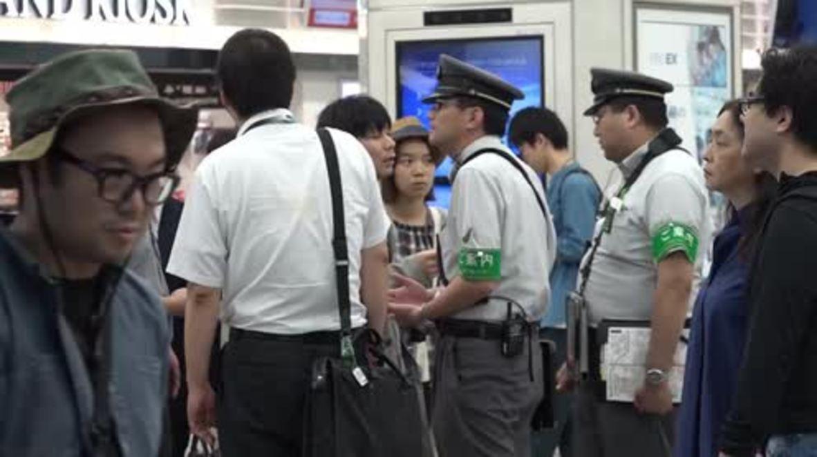Japan: Commuters stranded after powerful Osaka earthquake