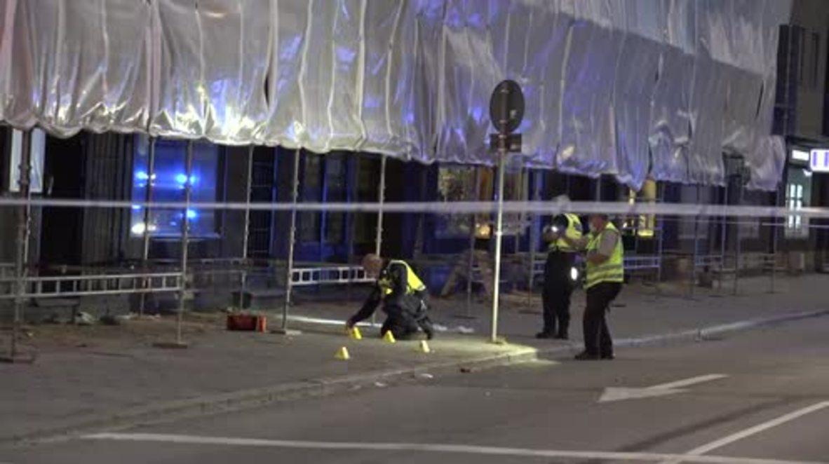 Suecia: Un muerto y cuatro heridos en un tiroteo en el centro de Malmo