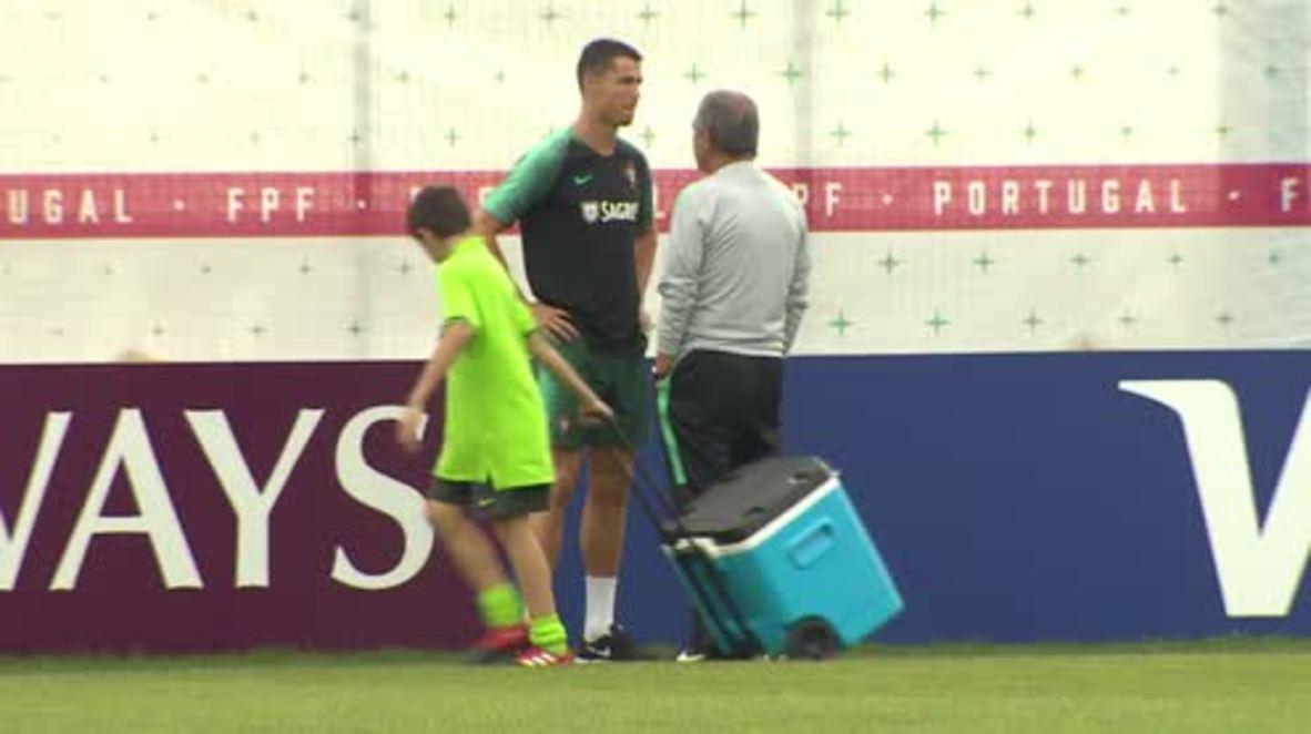 Russia: Ronaldo watches on as Portugal train ahead of Iran clash