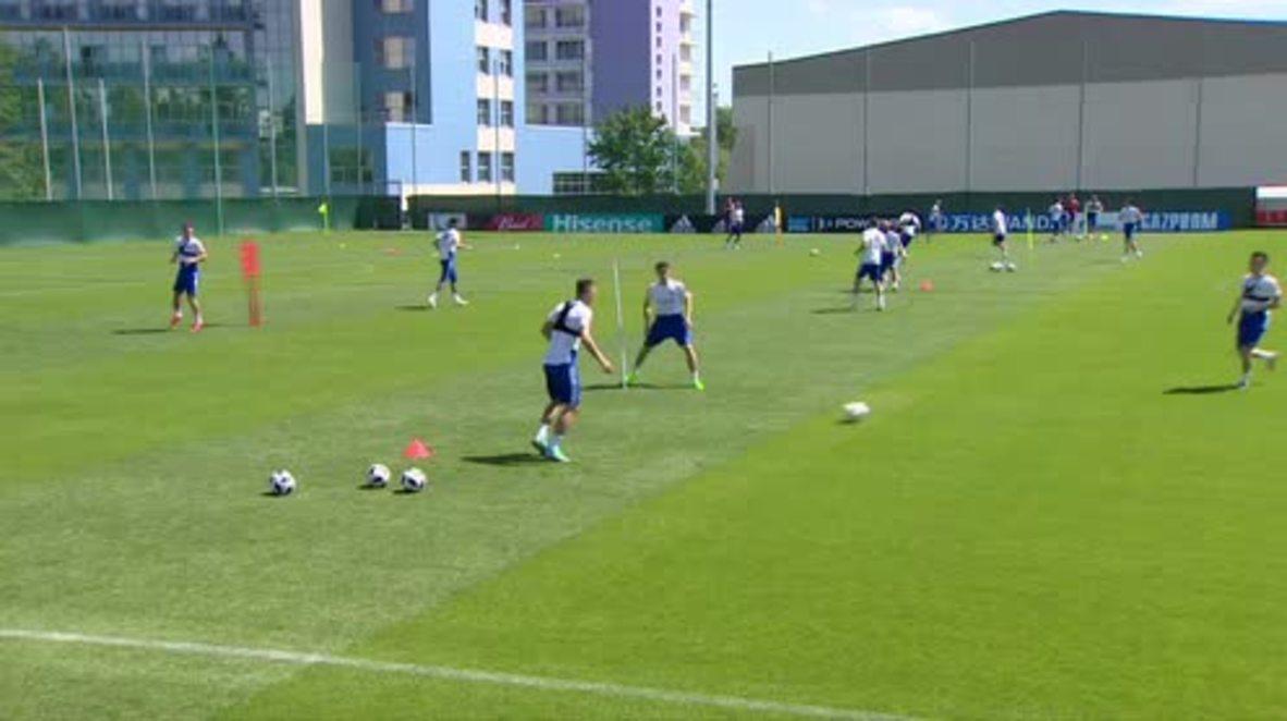 Russia: Russian squad prepares for Uruguay clash