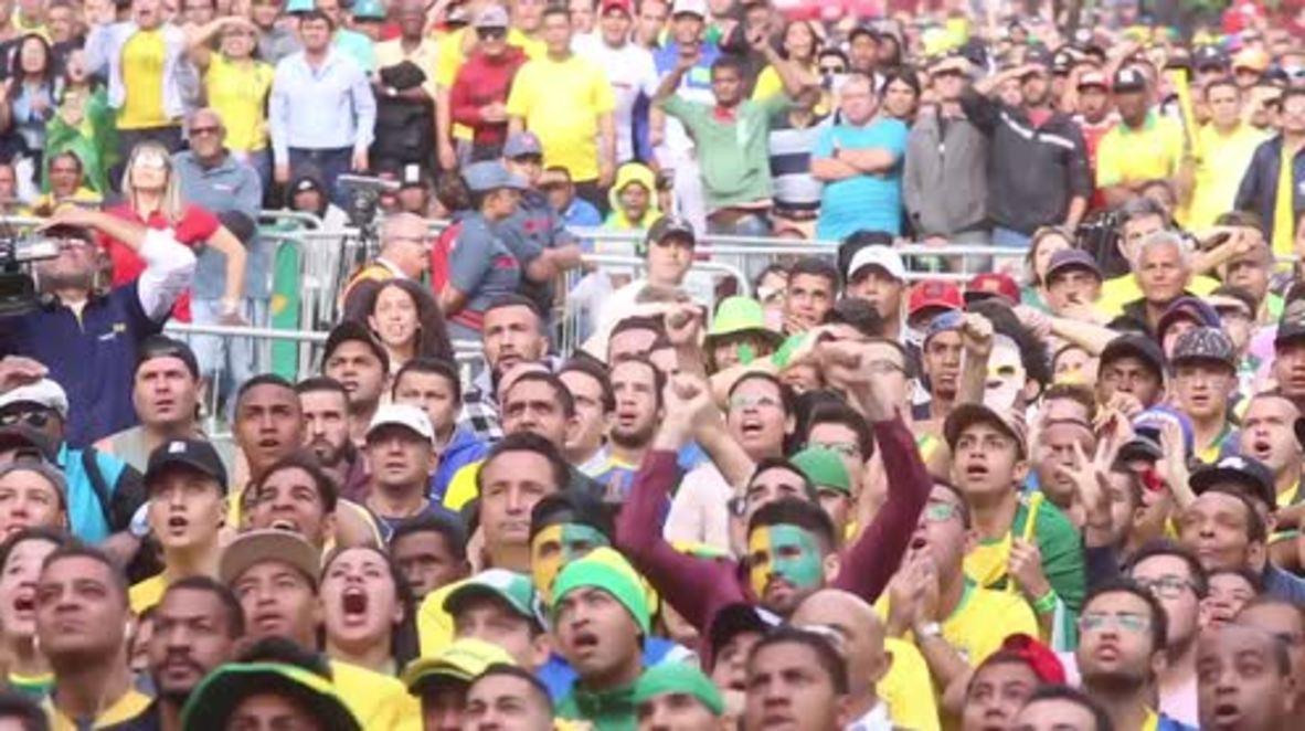Brazil: Sao Paulo fan zone buzzing with joy as Brazil beat Costa Rica