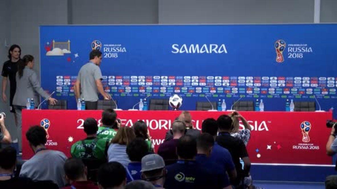 """Rusia: El equipo de Uruguay está """"motivado"""" para enfrentarse a la selección rusa en el Mundial"""