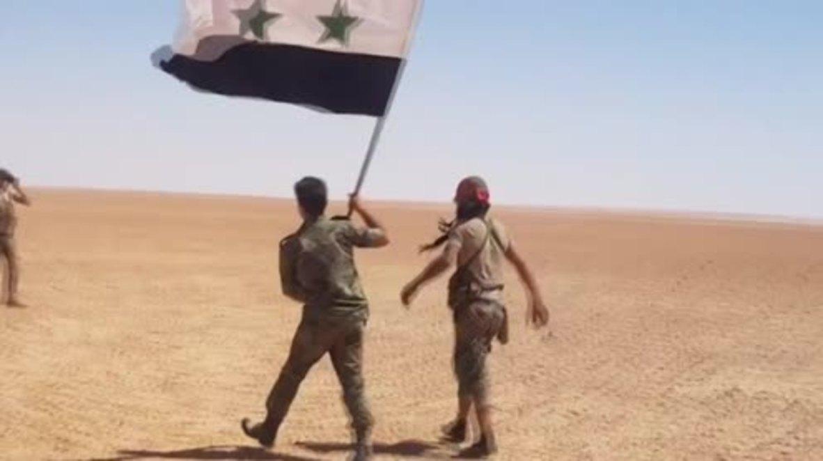 Siria: Las fuerzas gubernamentales expulsan al Estado Islámico de amplias zonas en la frontera con Irak