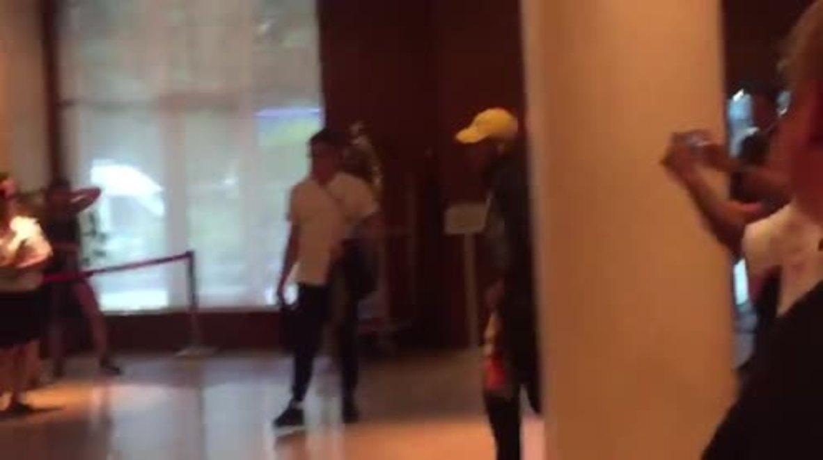 Russia: Fans go wild for Neymar as Brazilian team arrives at hotel