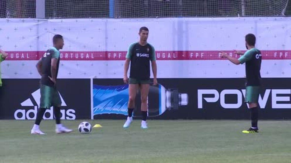 Russia: Ronaldo and Portugal train following draw with Iran