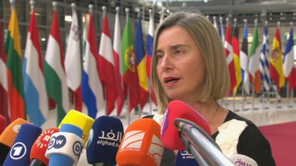 Belgium: Mogherini advises against 'panic' over 'manageable' migration situation