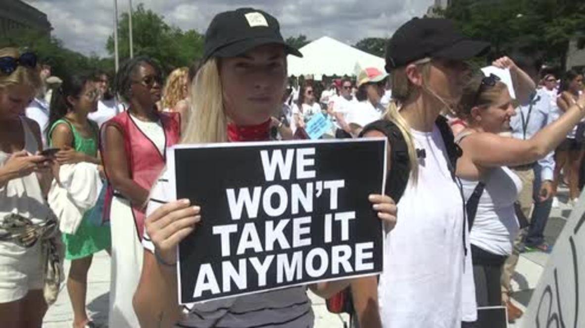 EE. UU.: Miles de mujeres protestan en Washington contra políticas migratorias de Trump