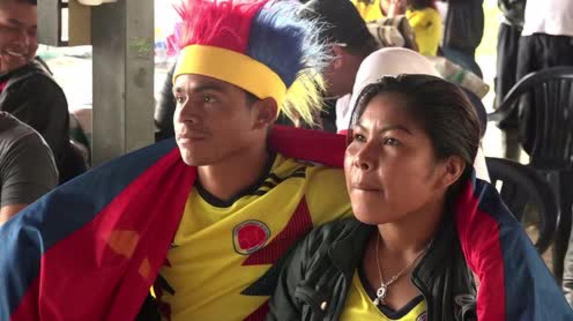 Colombia: Exguerrilleros de las FARC vivieron el partido de Colombia contra Senegal