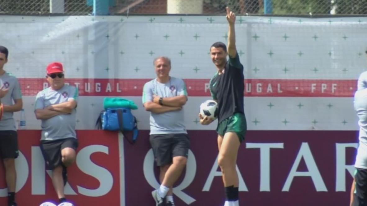 Russia: Ronaldo in high spirits ahead of Uruguay decider