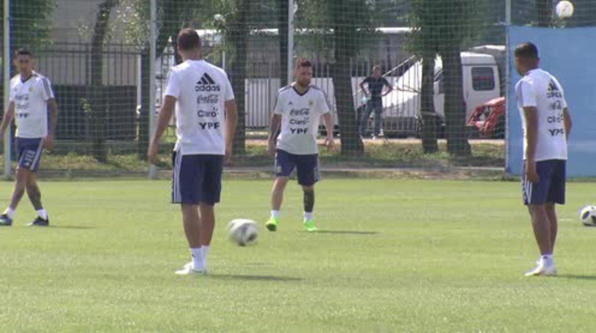 Rusia: Messi se prepara para el partido contra Francia