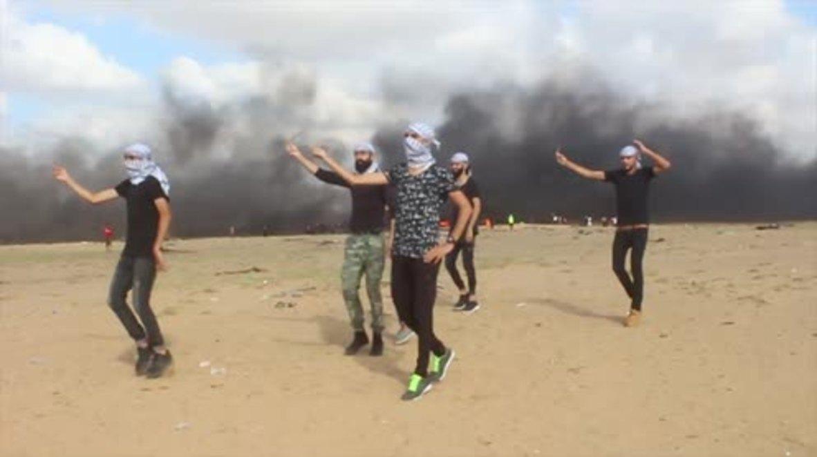 State of Palestine: 'Great Dance of Return' - Dabke performed at Gaza border
